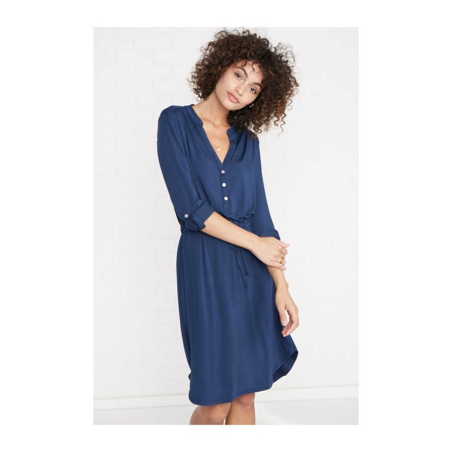 Cuffed Sleeve Knit Dress