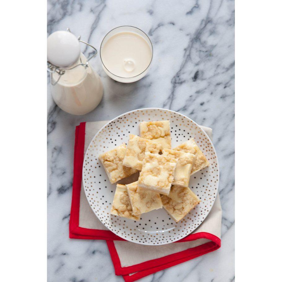 Creamy Eggnog Cookie Bars
