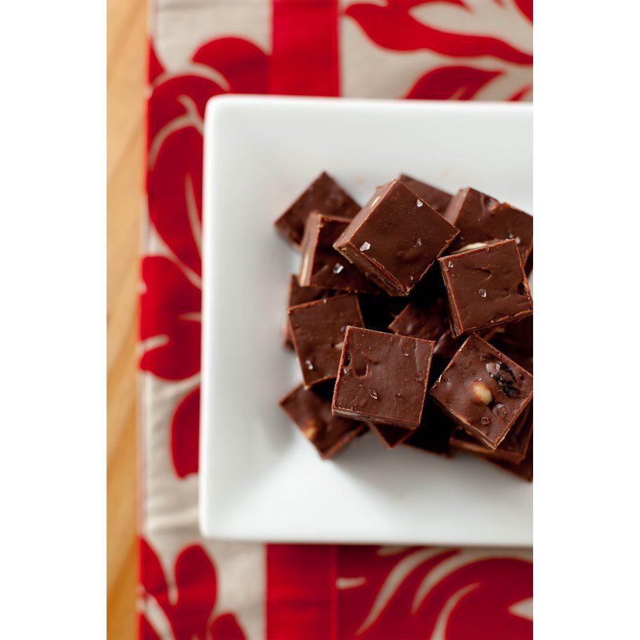Nutella Cherry Hazelnut Fudge