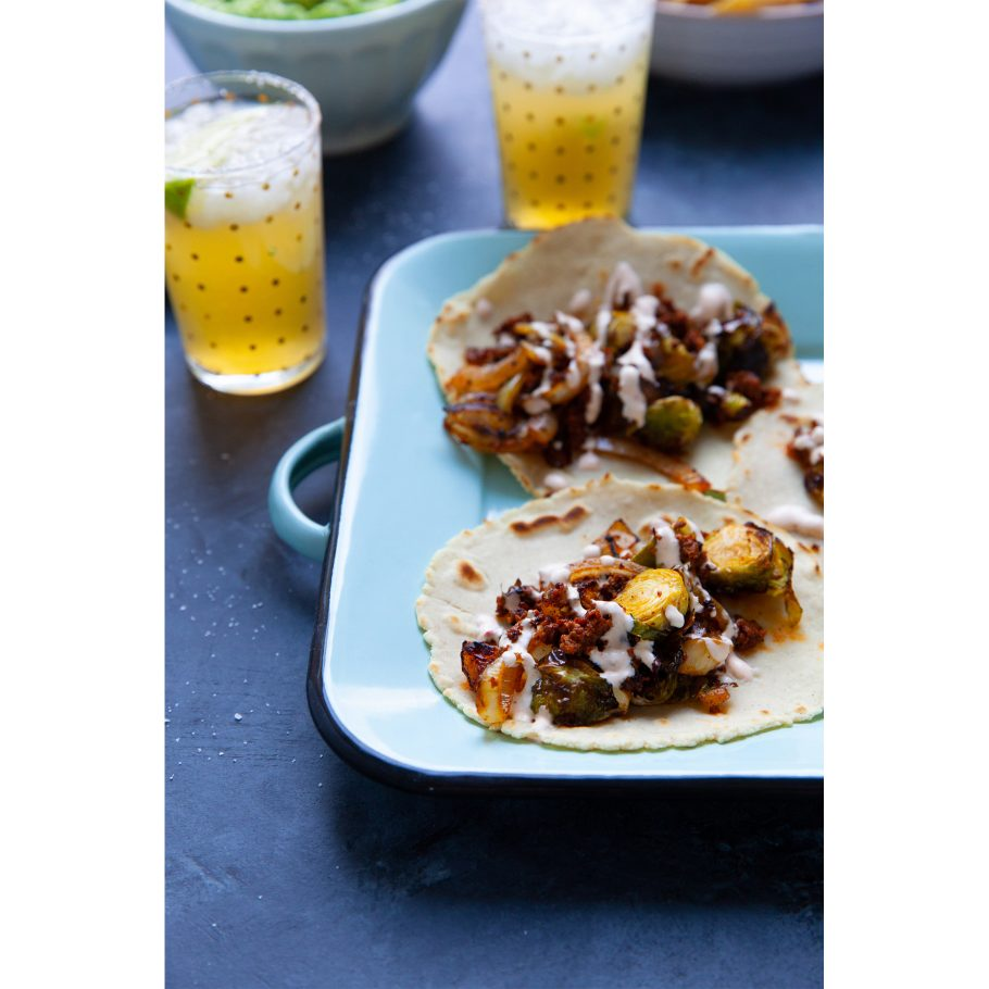 Brussels Sprouts Chorizo Tacos