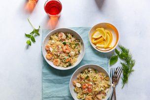 Lemony Orzo with Shrimp and Fresh Herbs