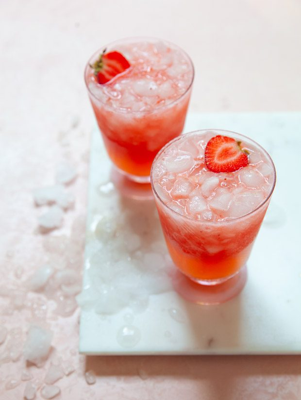 Strawberry Rum Coolers