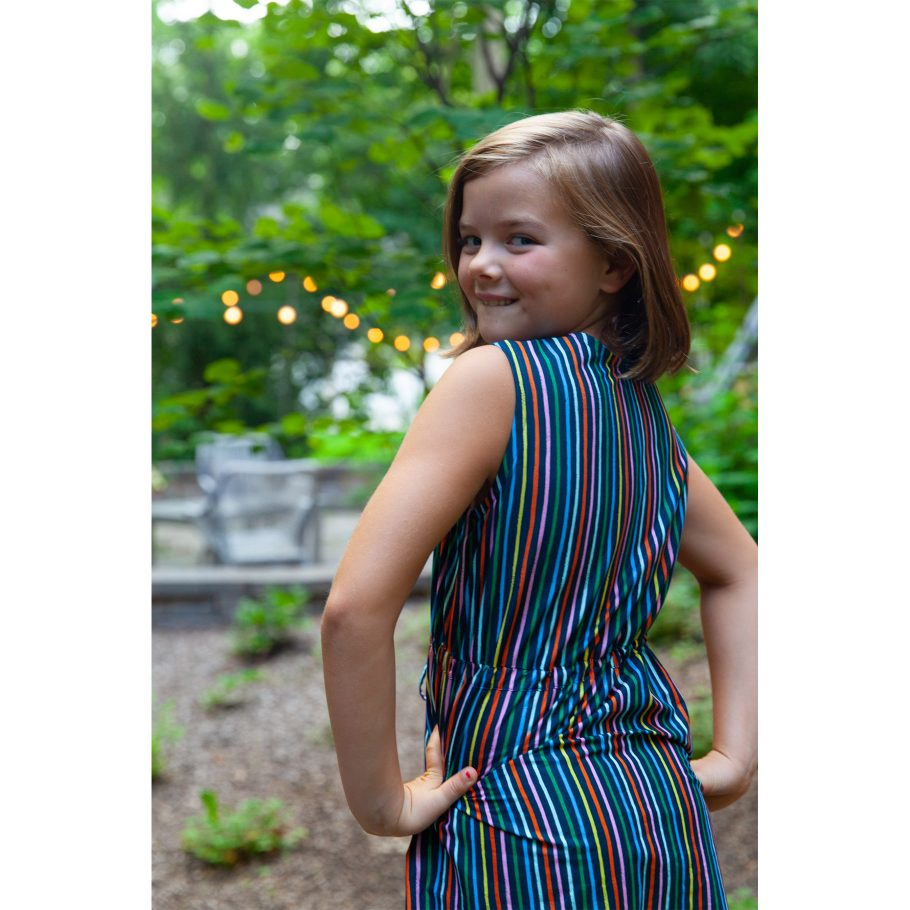 Happy Stripes Maxi Dress