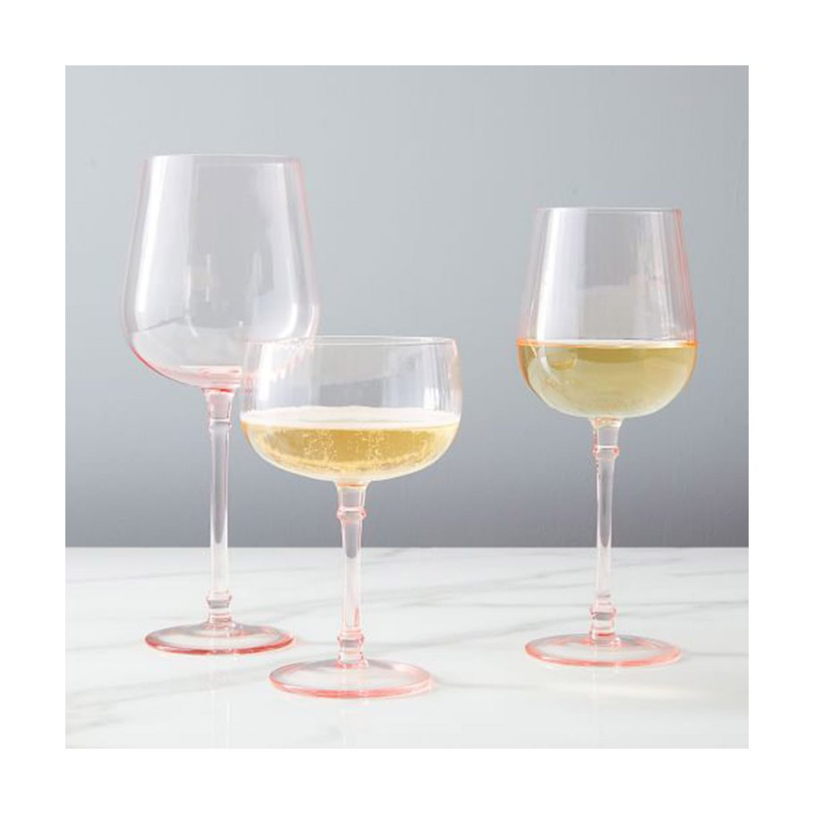 Pink Fluted Glassware