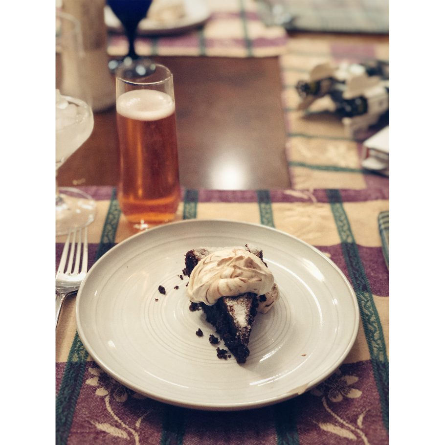 Crispy Chocolate Cake with Hazelnut and Sour Cream