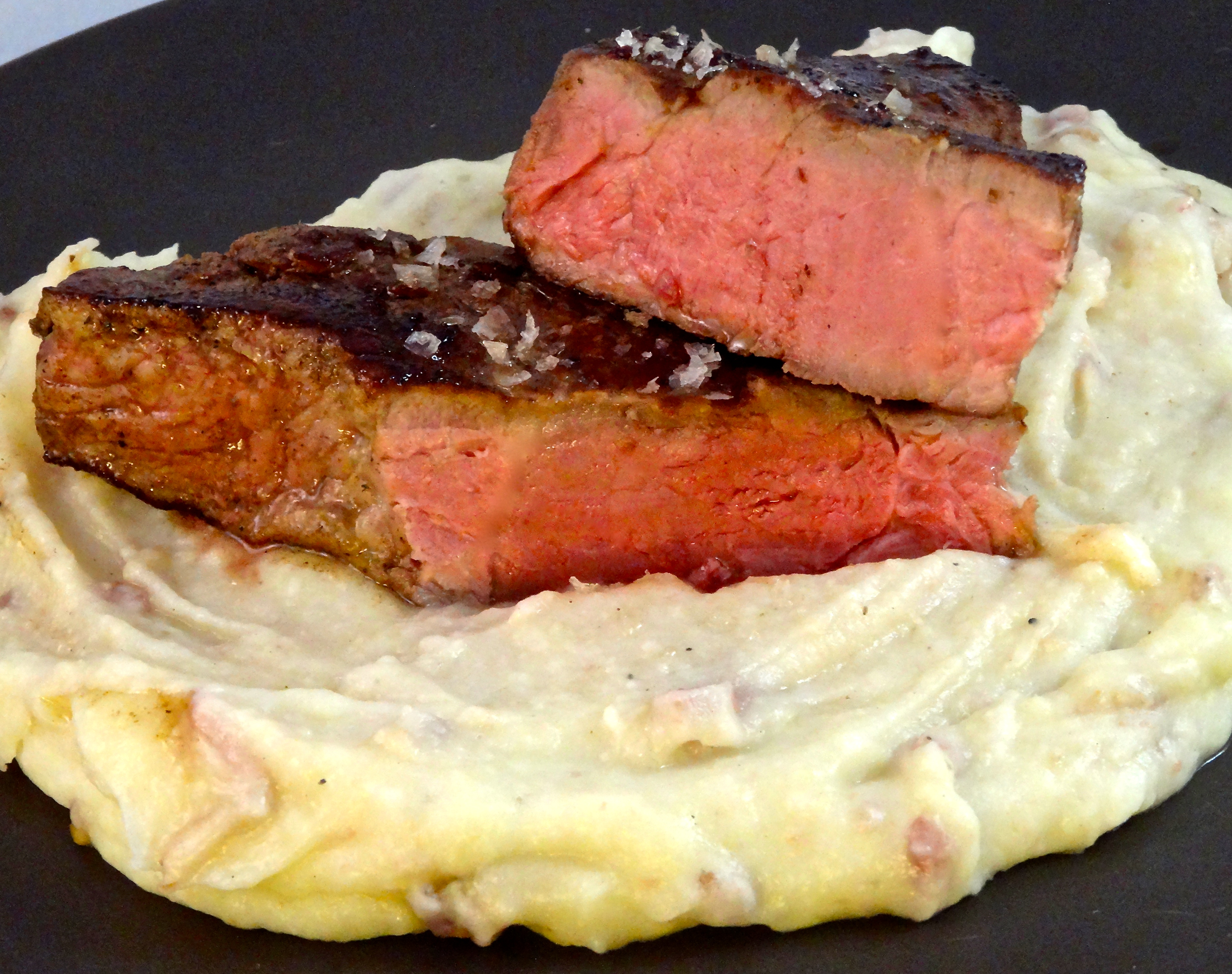 Sous Vide Steak Finished in Smoked Salt
