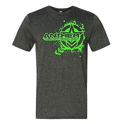 Splatter Logo Heather Gray & Green Shirt