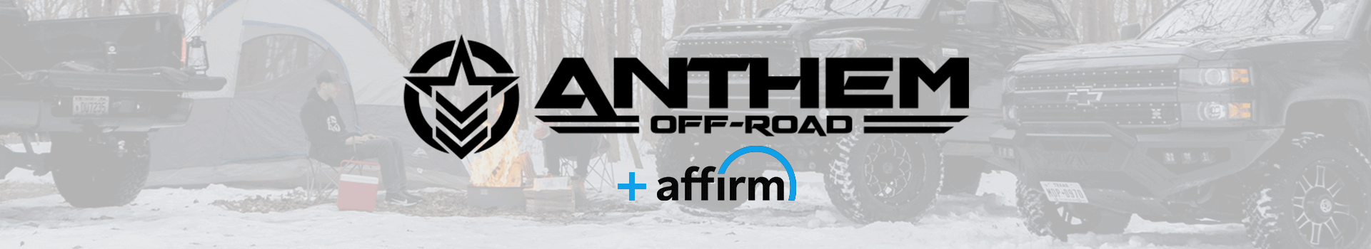 Anthem Off-Road offers financing through Affirm