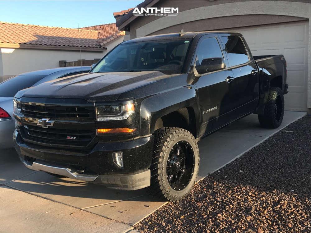 1 2018 Silverado 1500 Chevrolet Motofab Leveling Kit Anthem Instigator Black
