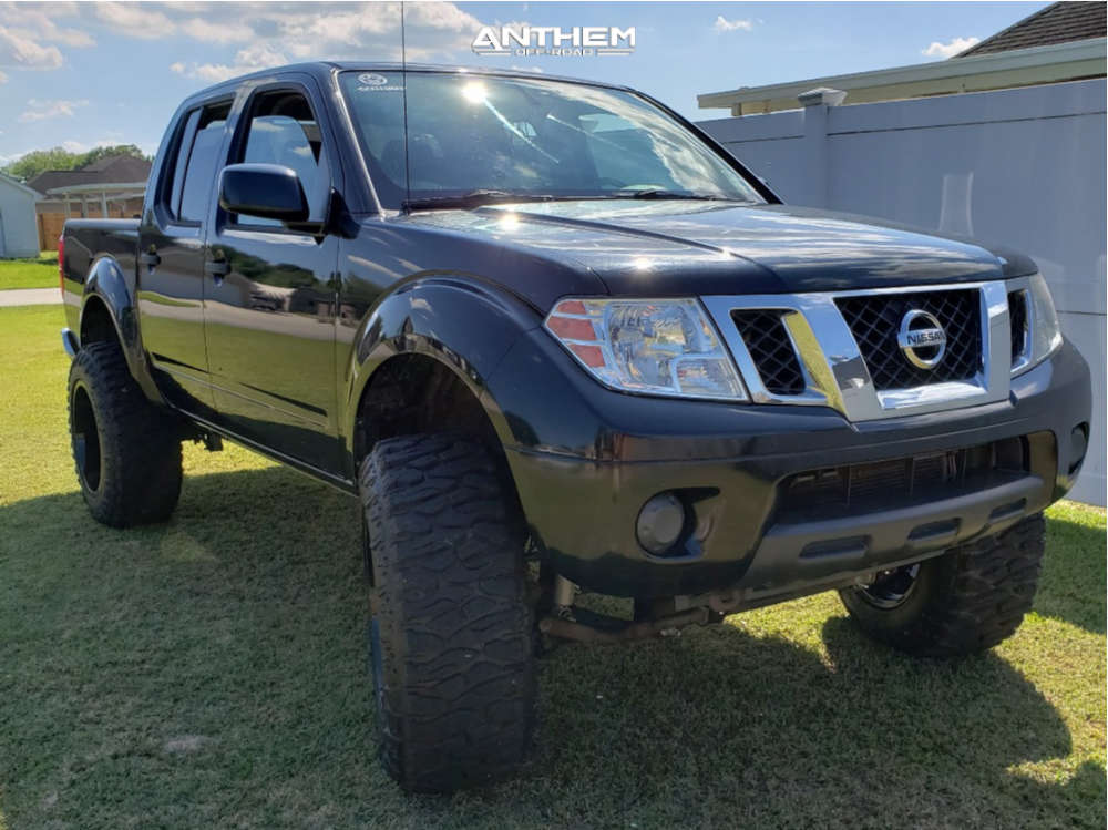 1 2012 Frontier Nissan Rough Country Suspension Lift 6in Anthem Off Road Instigator Black
