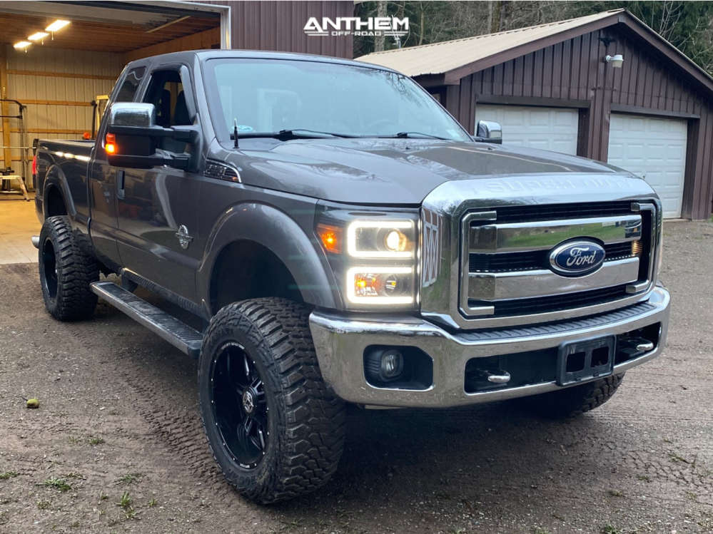 1 2011 F 250 Super Duty Ford Rough Country Suspension Lift 3in Anthem Off Road Equalizer Black