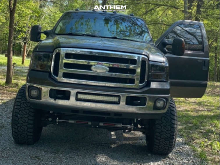 2 2006 F 250 Super Duty Ford Rough Country Suspension Lift 6in Anthem Equalizer Black