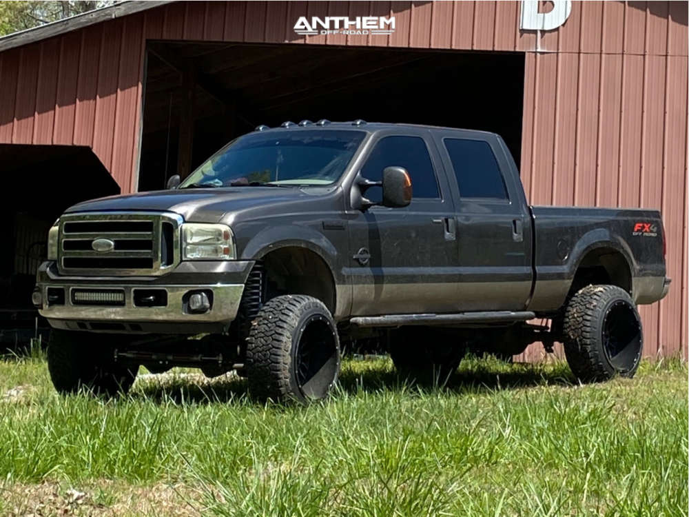 3 2006 F 250 Super Duty Ford Rough Country Suspension Lift 6in Anthem Equalizer Black