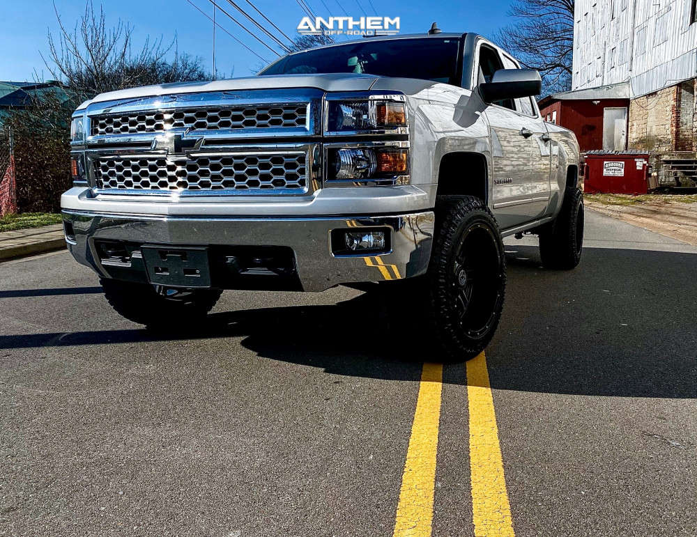 15 2015 Silverado 1500 Chevrolet Stock Air Suspension Anthem Off Road Instigator Black