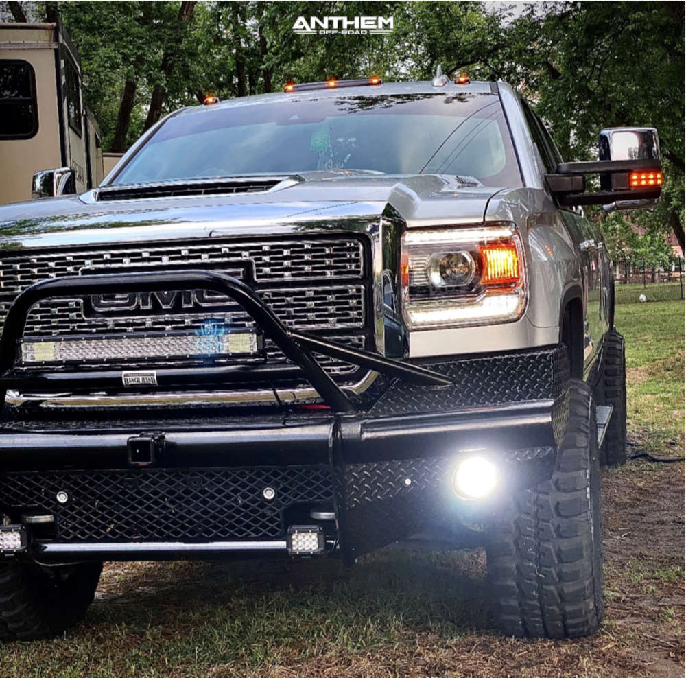 2 2019 Sierra 3500 Hd Gmc Rancho Leveling Kit Anthem Off Road Equalizer Machined Accents