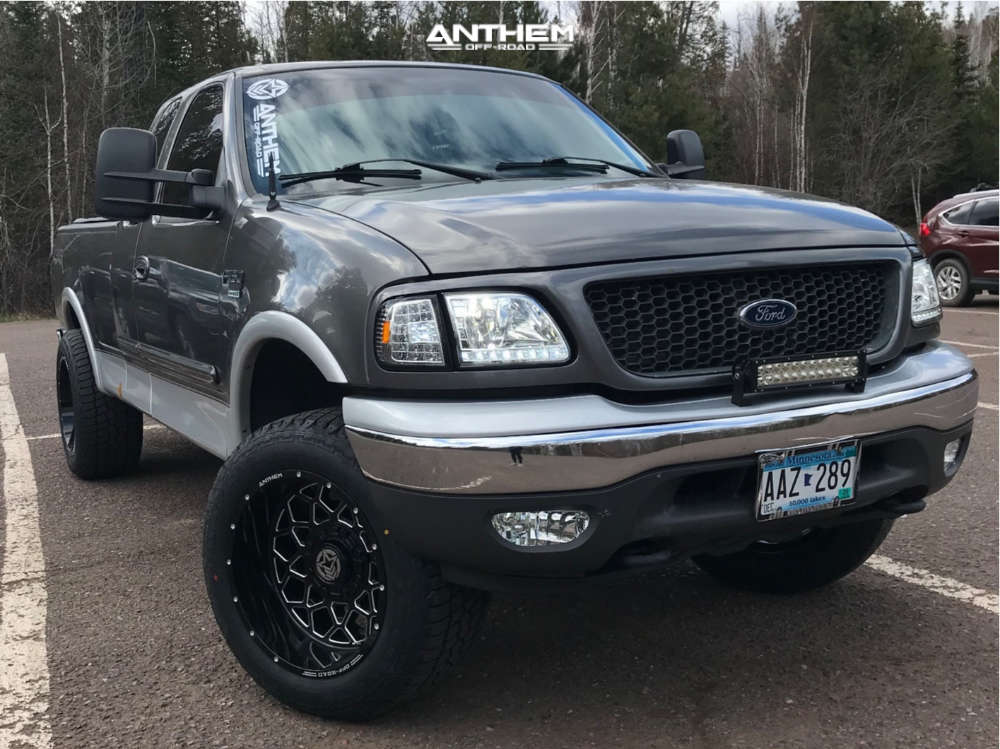 1 2002 F 150 Ford Rough Country Leveling Kit Anthem Off Road Avenger Black