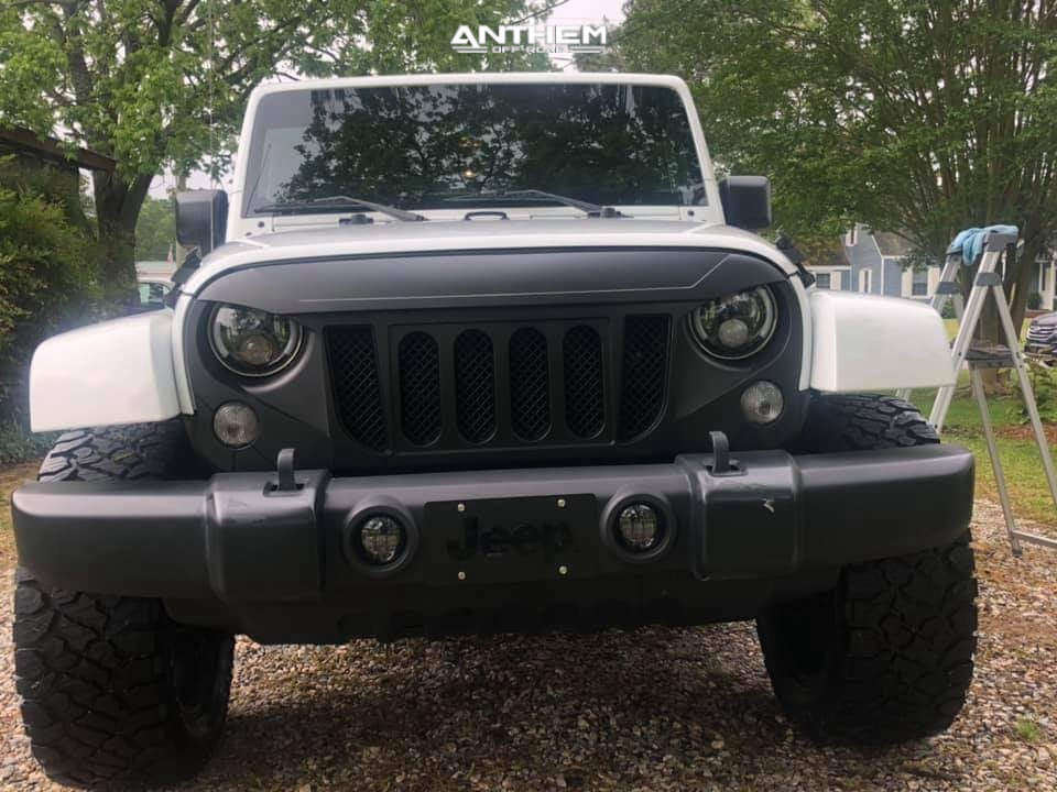 2 2015 Wrangler Jeep Unlimited Sahara Teraflex Leveling Kit Anthem Off Road Equalizer Black