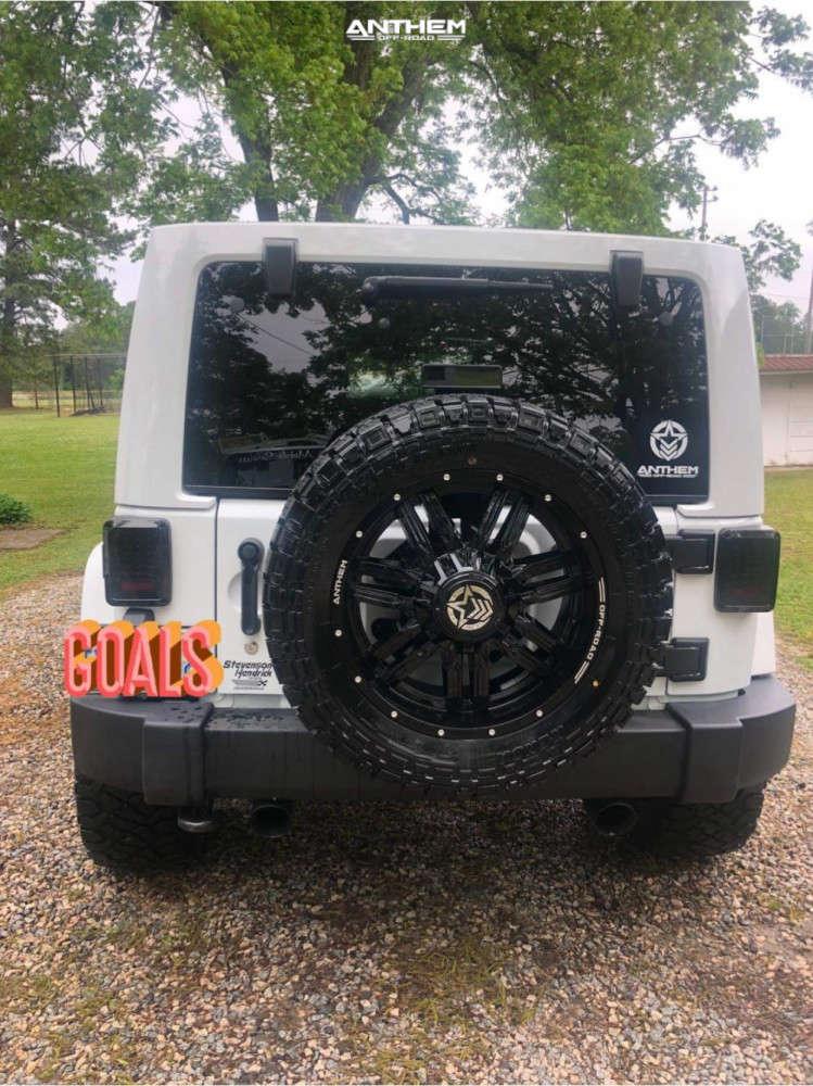 3 2015 Wrangler Jeep Unlimited Sahara Teraflex Leveling Kit Anthem Off Road Equalizer Black