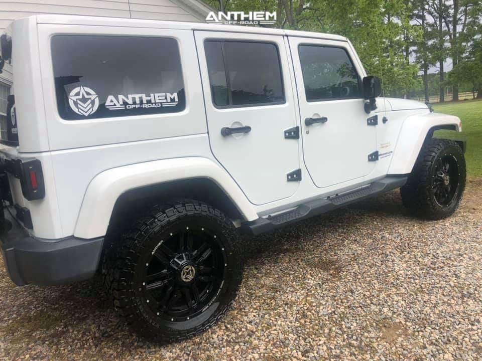 4 2015 Wrangler Jeep Unlimited Sahara Teraflex Leveling Kit Anthem Off Road Equalizer Black