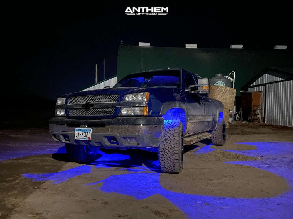 7 2004 Silverado 1500 Chevrolet Superlift Suspension Lift 25in Anthem Off Road Equalizer Black