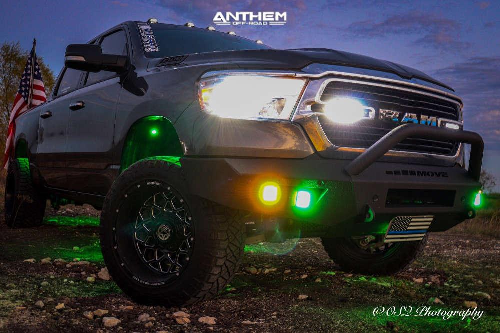 13 2019 1500 Ram Readylift Suspension Lift 35in Anthem Off Road Avenger Black Milled