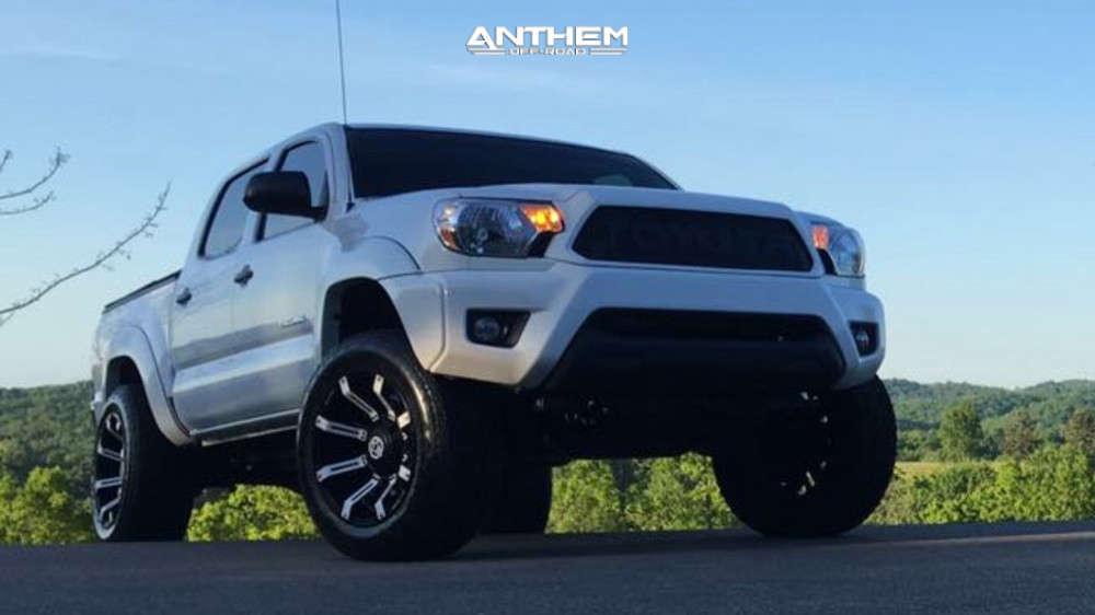 2 2013 Tacoma Toyota 2 Inch Level Leveling Kit Anthem Off Road Defender Matte Black