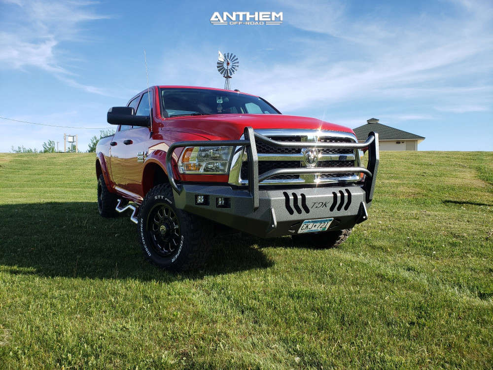 4 2018 2500 Ram Stock Air Suspension Anthem Off Road Intimidator Machined Accents