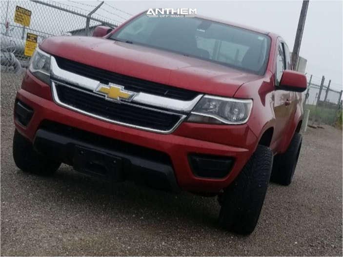 2 2015 Colorado Chevrolet Stock Air Suspension Anthem Off Road Avenger Black