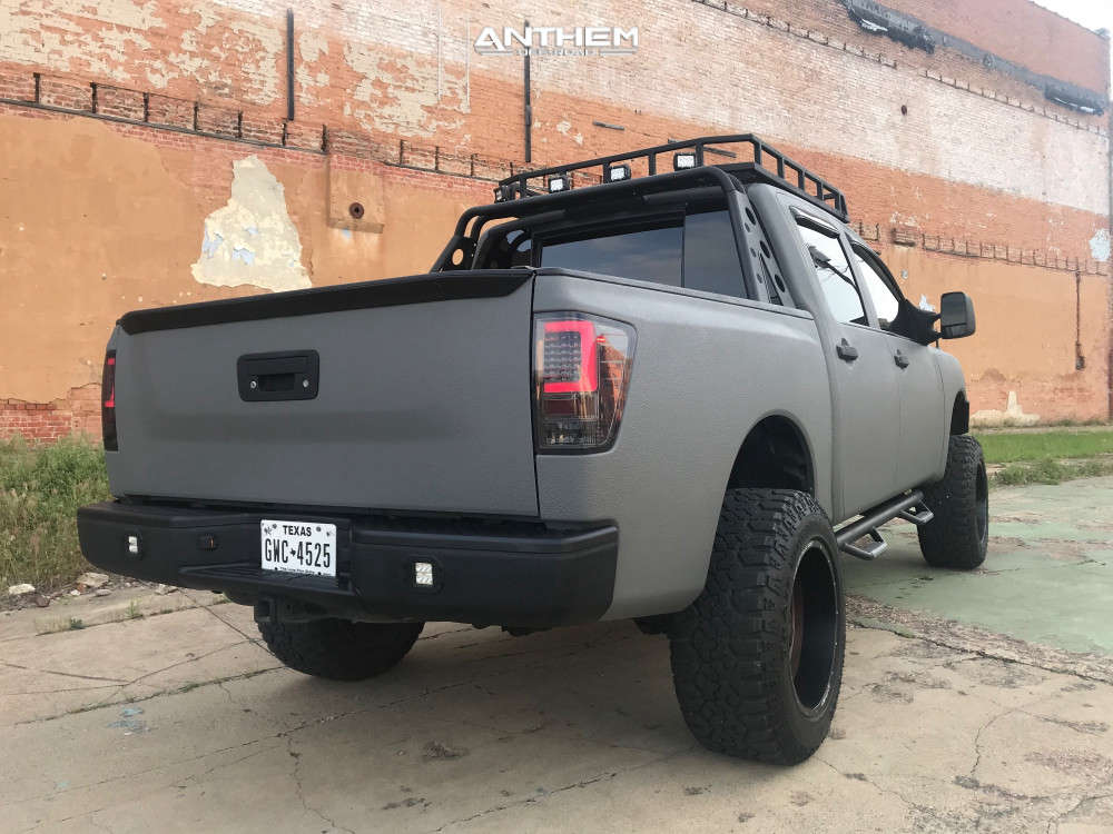 4 2015 Titan Nissan Rough Country Suspension Lift 6in Anthem Off Road Commander Bronze