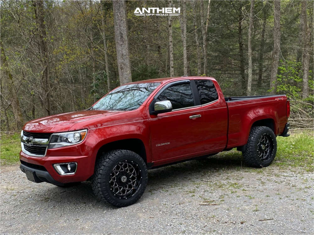 1 2015 Colorado Chevrolet Rough Country Leveling Kit Anthem Off Road Avenger Machined Black