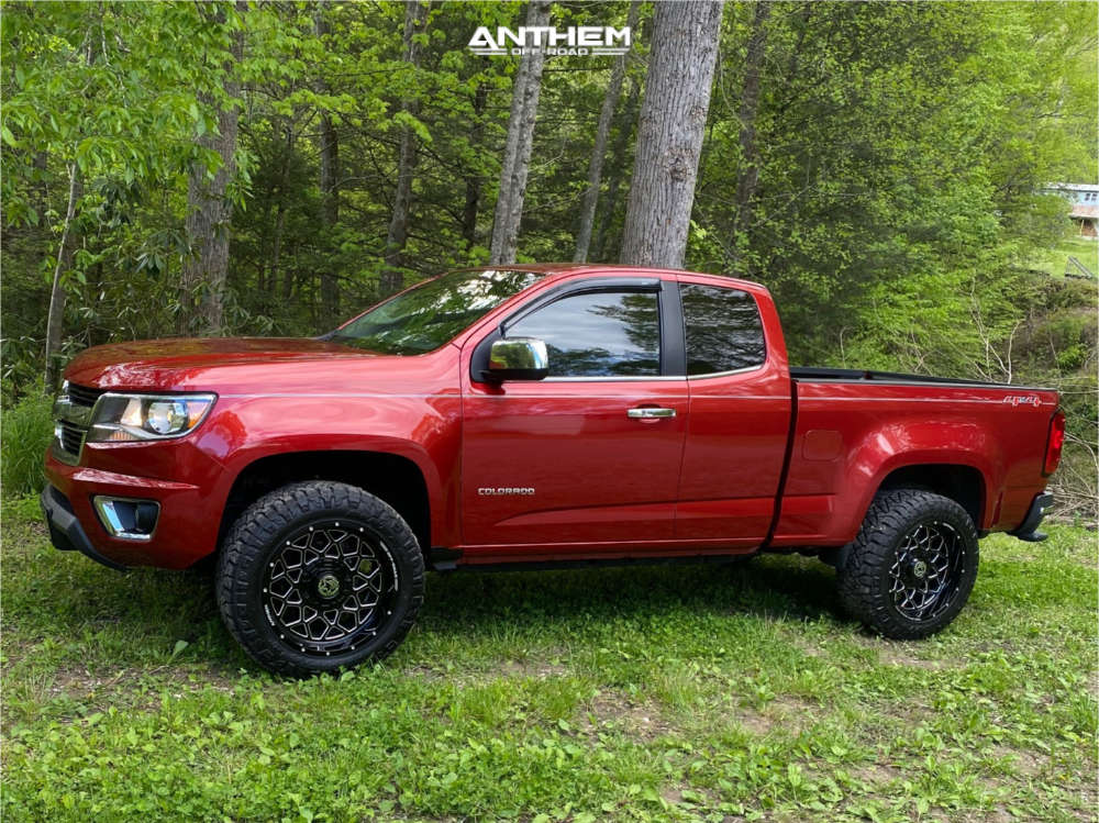 12 2015 Colorado Chevrolet Rough Country Leveling Kit Anthem Off Road Avenger Machined Black