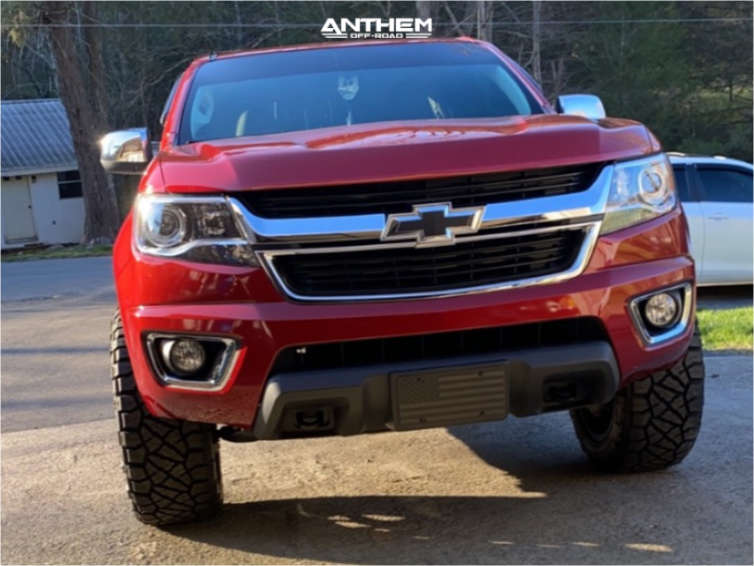 2 2015 Colorado Chevrolet Rough Country Leveling Kit Anthem Off Road Avenger Machined Black