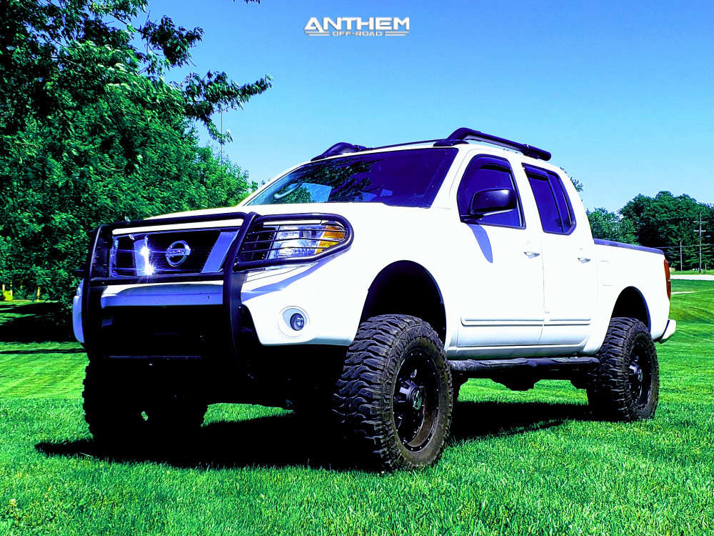 1 2005 Frontier Nissan Rough Country Suspension Lift 8in Anthem Off Road Commander Black