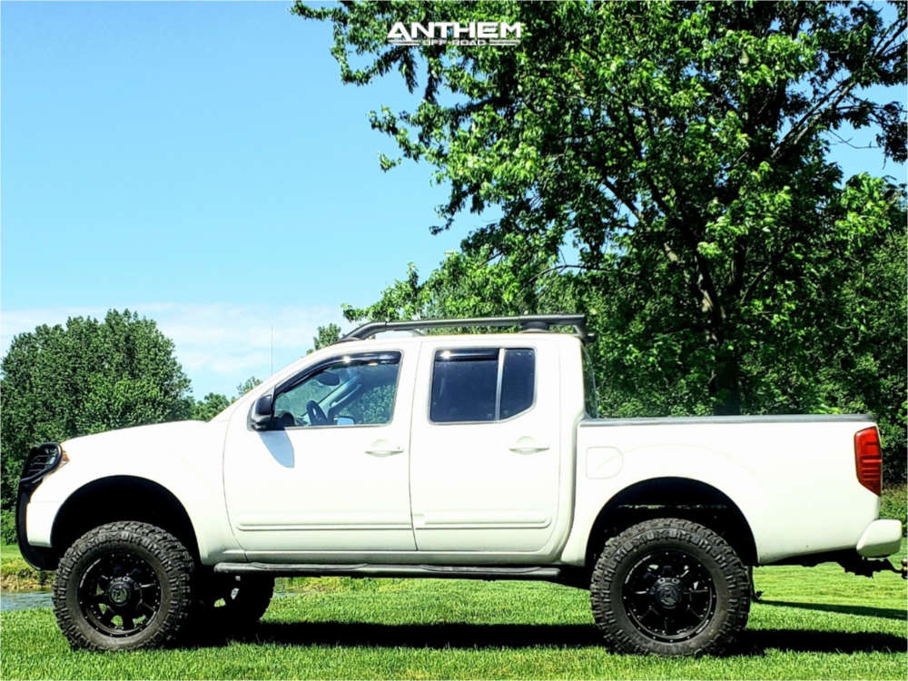 4 2005 Frontier Nissan Rough Country Suspension Lift 8in Anthem Off Road Commander Black