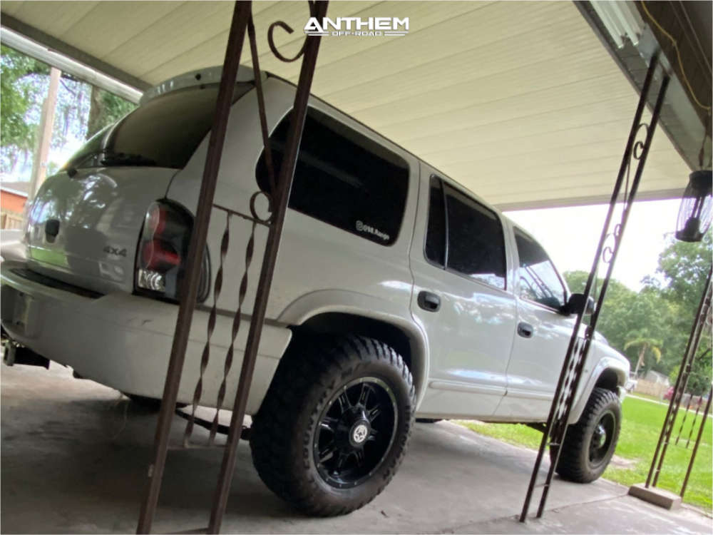 3 1998 Durango Dodge Supreme Suspension Lift 3in Anthem Off Road Instigator Black Milled