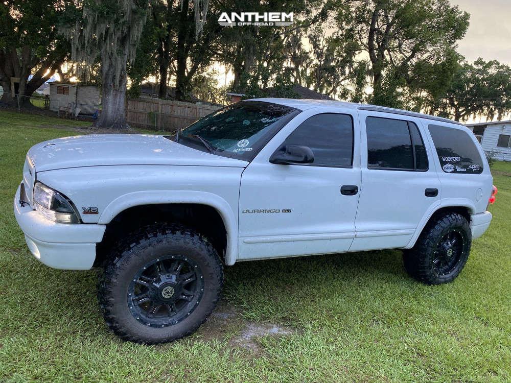 8 1998 Durango Dodge Supreme Suspension Lift 3in Anthem Off Road Instigator Machined Accents
