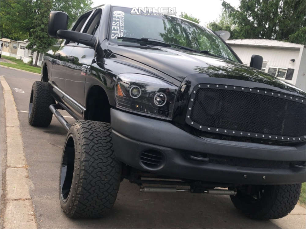 1 2007 Ram 2500 Dodge Rough Country Suspension Lift 5in Anthem Off Road Equalizer Machined Black