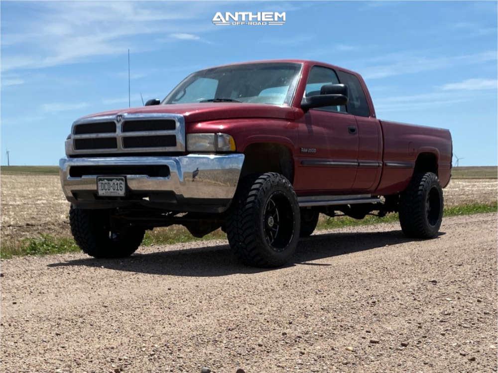 1 1999 Ram 2500 Dodge Rough Country Suspension Lift 3in Anthem Off Road Gunner Black