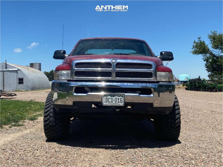 2 1999 Ram 2500 Dodge Rough Country Suspension Lift 3in Anthem Off Road Gunner Black