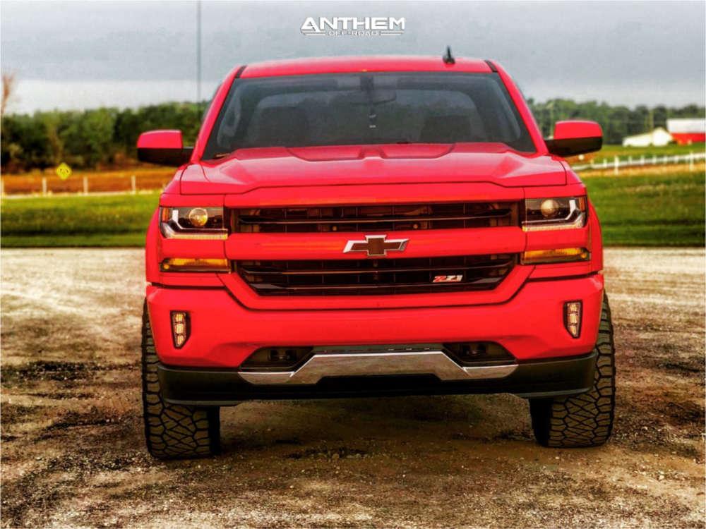 2 2017 Silverado 1500 Chevrolet Motofab Leveling Kit Anthem Off Road Gunner Black