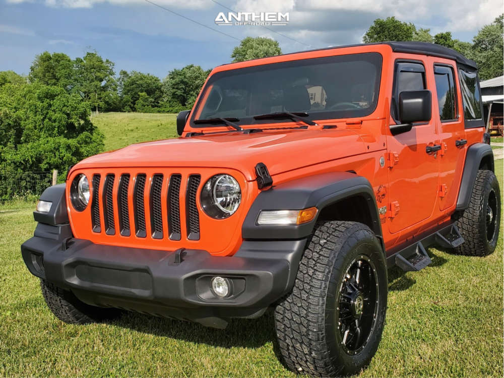 1 2019 Wrangler Jeep Unlimited Sport S Stock Air Suspension Anthem Off Road Equalizer Machined Accents