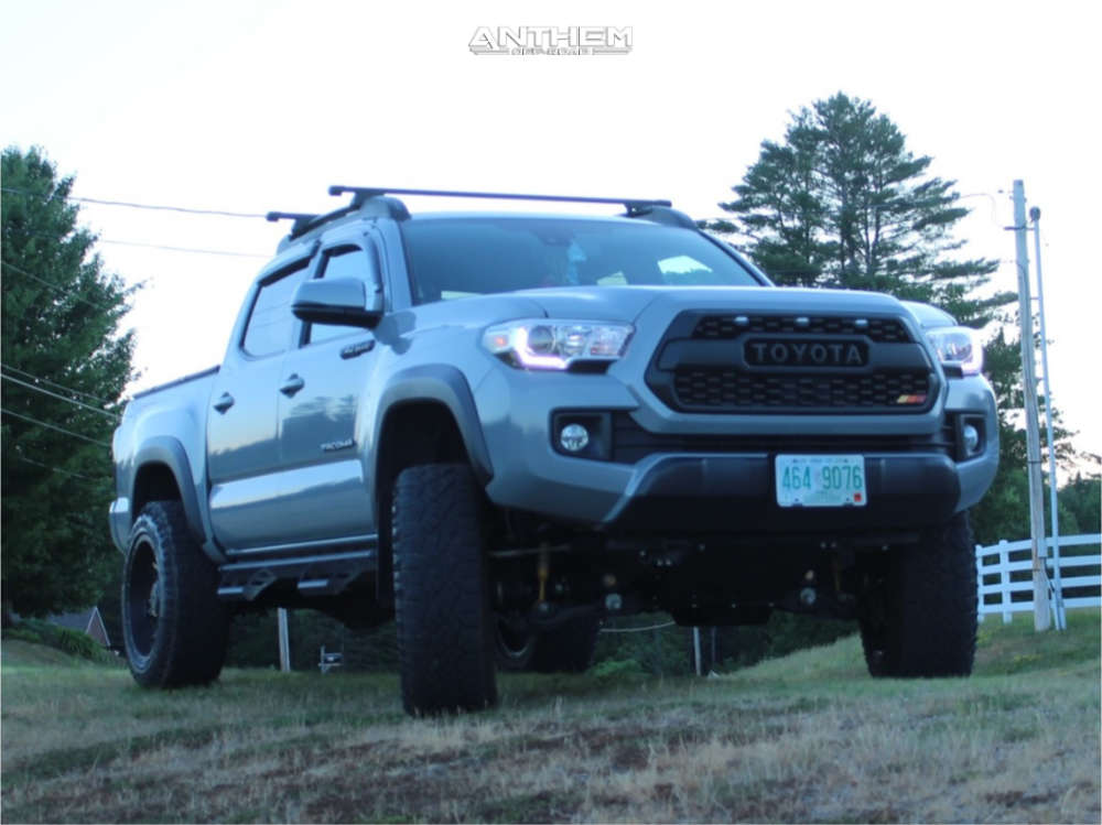 1 2019 Tacoma Toyota Rough Country Suspension Lift 4in Anthem Equalizer Machined Accents