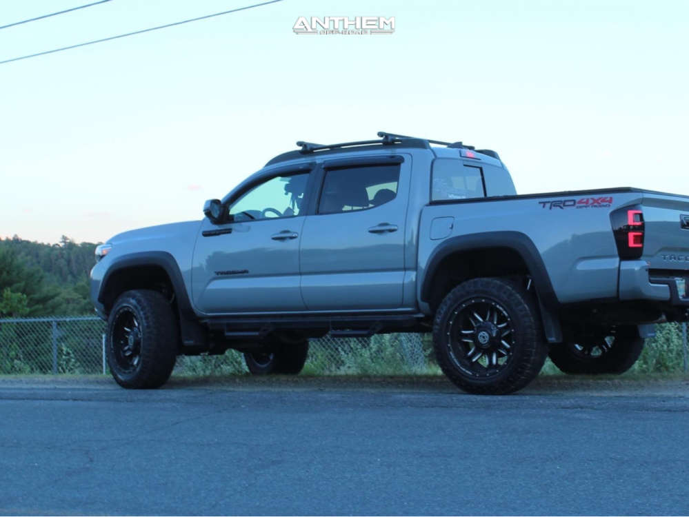 14 2019 Tacoma Toyota Rough Country Suspension Lift 4in Anthem Equalizer Machined Accents