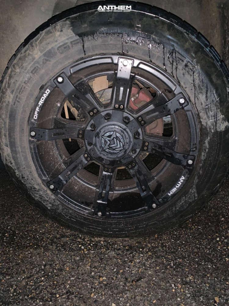 9 2008 Ram 1500 Dodge Stock Air Suspension Anthem Off Road A712 Defender Matte Black