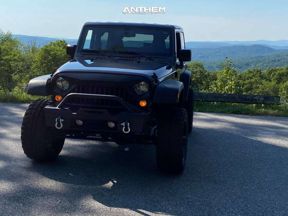 12 2016 Wrangler Jk Jeep Base Rough Country Suspension Lift 4in Anthem Off Road Equalizer Black