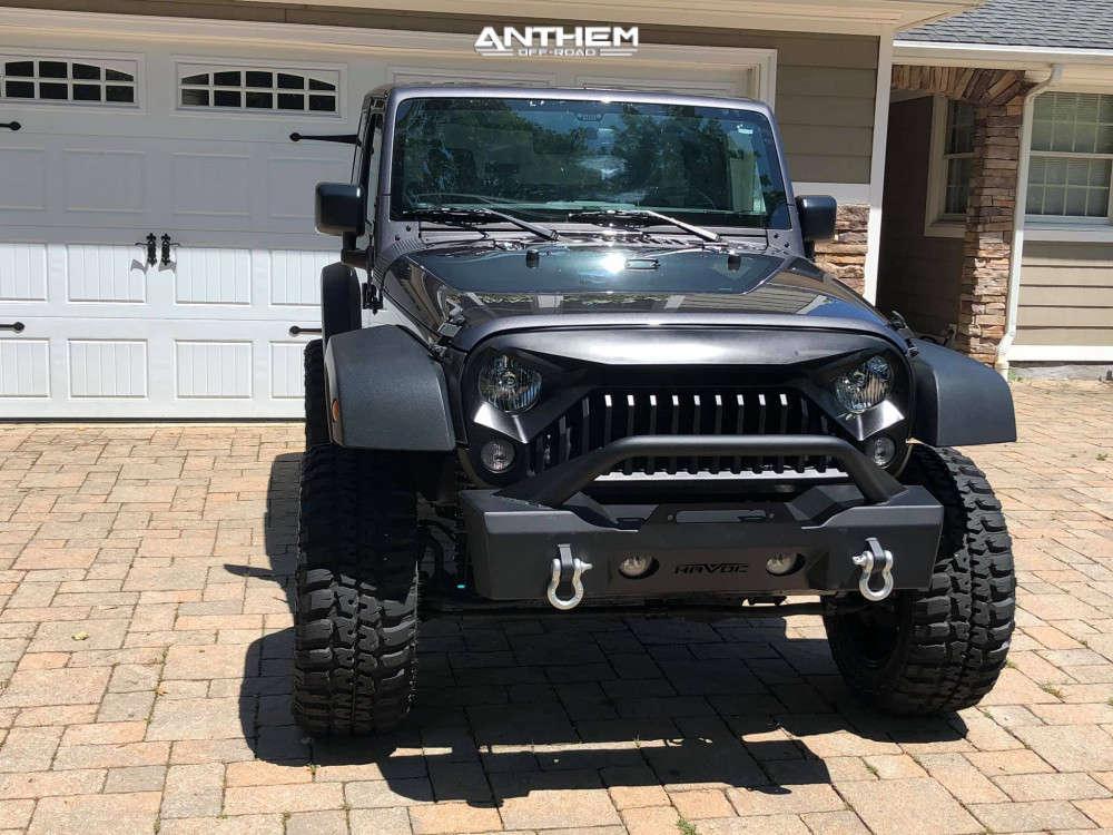 2 2016 Wrangler Jk Jeep Base Rough Country Suspension Lift 4in Anthem Off Road Equalizer Black