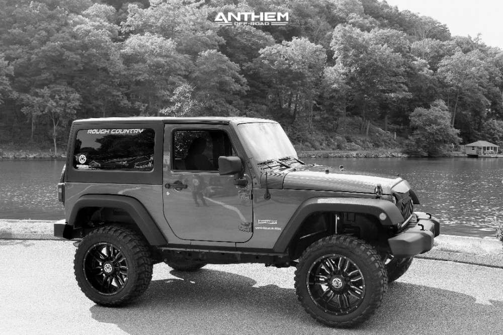 4 2016 Wrangler Jk Jeep Base Rough Country Suspension Lift 4in Anthem Off Road Equalizer Black