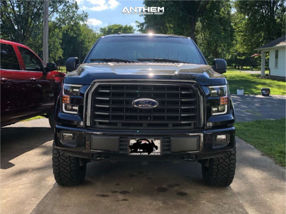 2 2017 F 150 Ford Readylift Suspension Lift 35in Anthem Off Road Equalizer Black