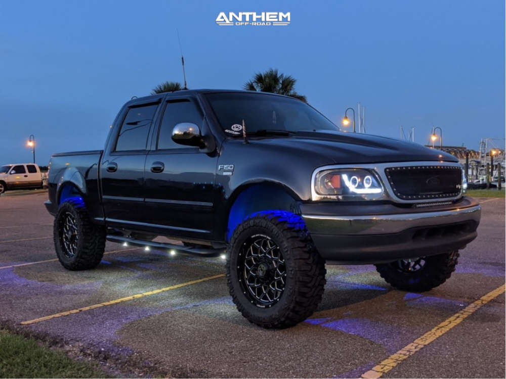 1 2001 F 150 Ford 35 Inch Level With 25 Inch Coil Spacers Suspension Lift 6in Anthem Off Road Avenger Black