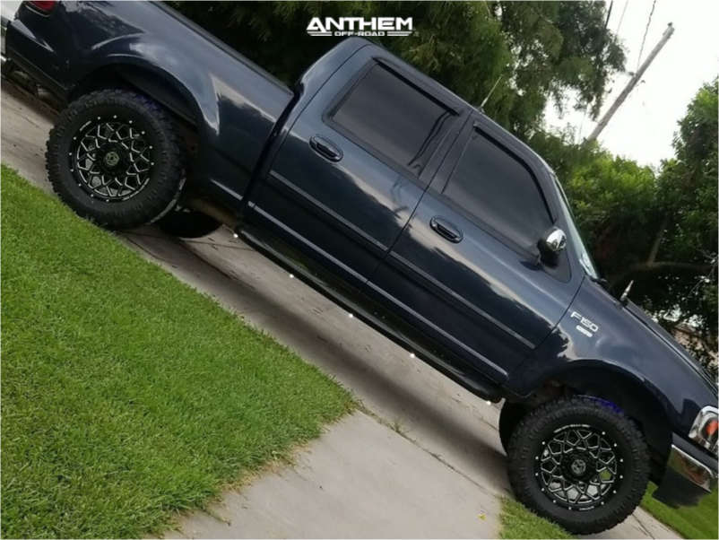 12 2001 F 150 Ford 35 Inch Level With 25 Inch Coil Spacers Suspension Lift 6in Anthem Off Road Avenger Black